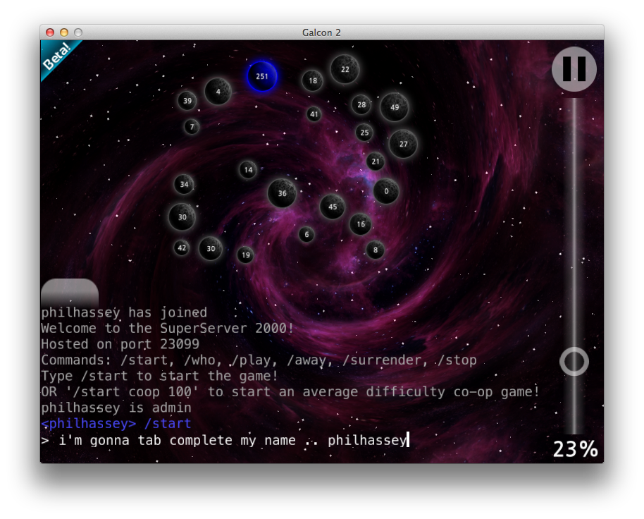 Phil Hassey » Blog Archive » Galcon 2 – beta6 – now with SFX, head